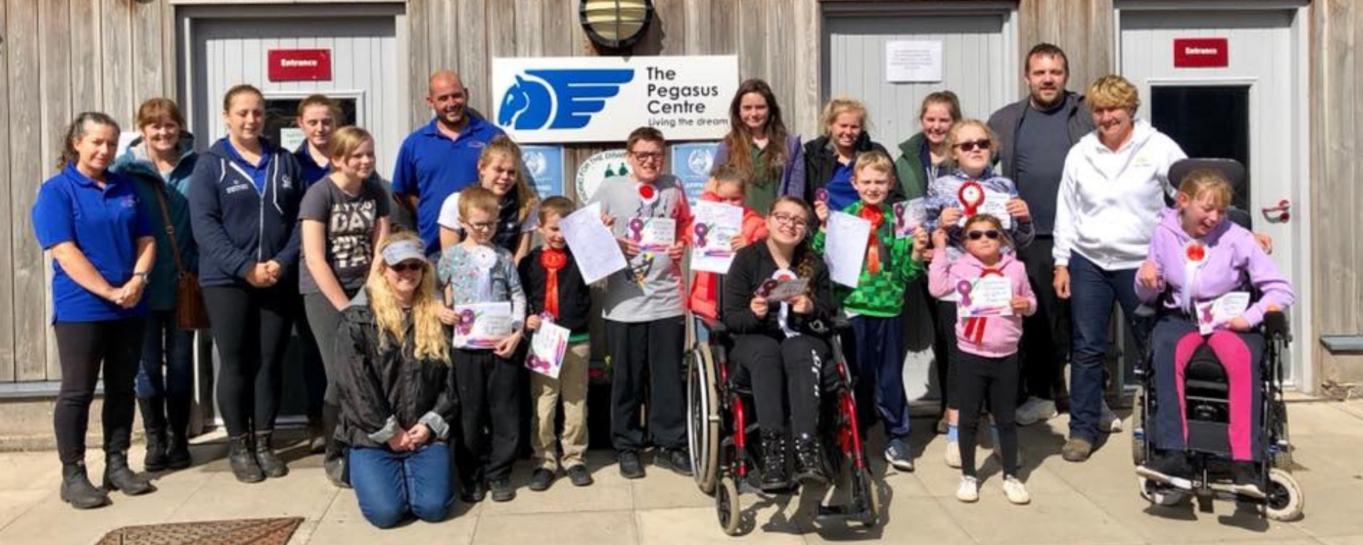 Children with visual impairments saddle up at Pegasus