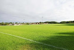 Outdoor grass pitch